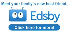 Image showing the Edsby logo and offering you to click to open another page